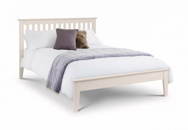 Julian Bowen Salerno Ivory or Oak Shaker Bed Frame