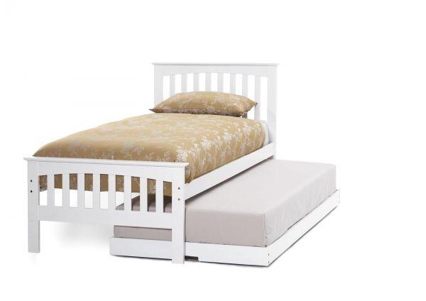 Amelia Hevea Wood Guest Bed & Trundle - Oak or White