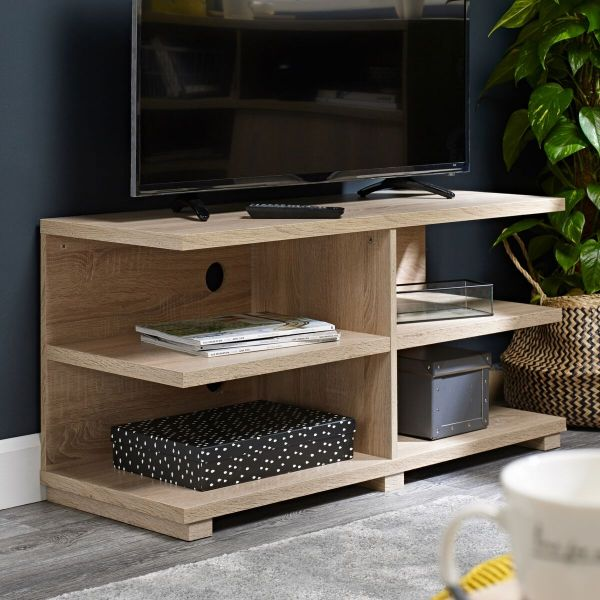 LPD Oslo TV Stand Unit - Washed Oak