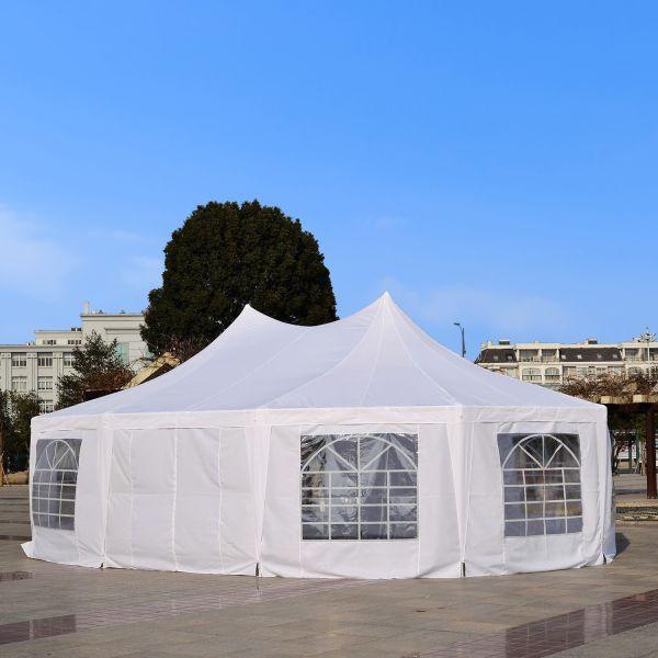 Outsunny 10 Side Decagonal Garden Gazebo Marquee Tent