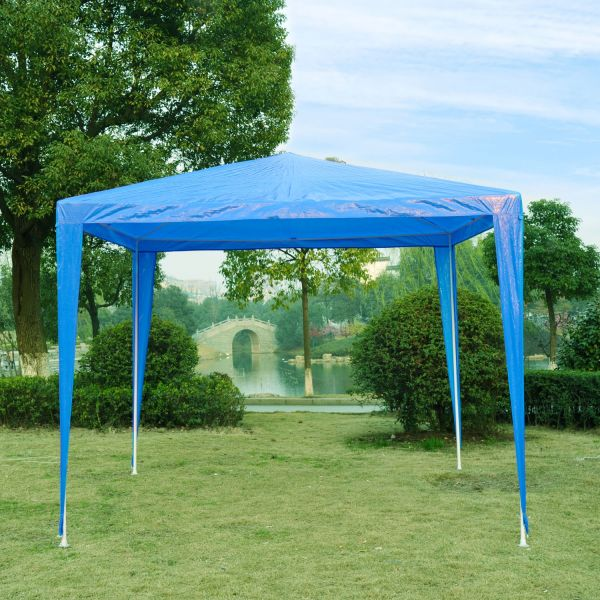 Outsunny 2.7m Garden Gazebo Marquee Canopy - Blue, Green and White