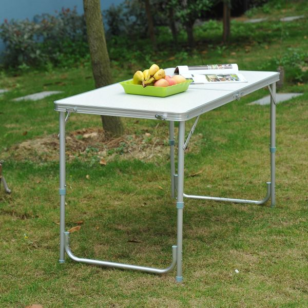 Outsunny 4FT Outdoor Portable Picnic Table