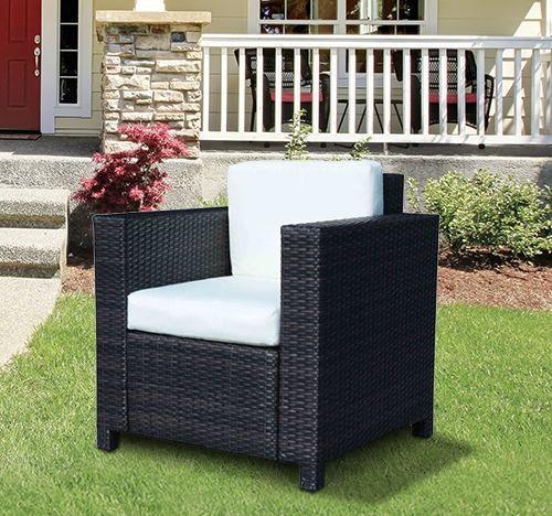 Outsunny Single Rattan Garden Armchair - Brown or Black