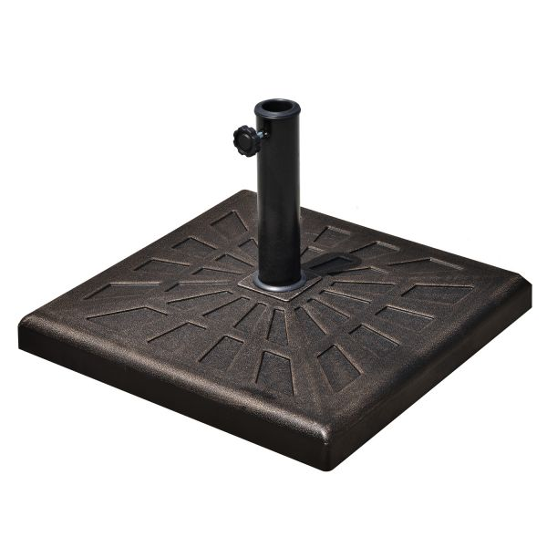 Outsunny 15kg Square Bronze Patterned Umbrella Base Stand