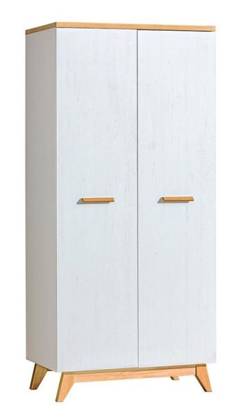 Scott 2-Door Wardrobe 85cm - Anderson Pine & Ash Oak