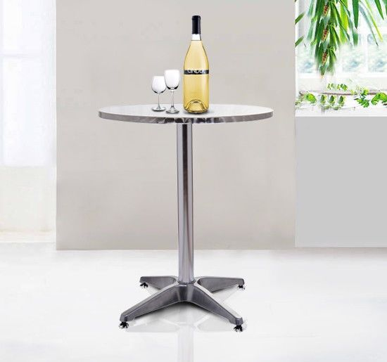 Homcom Adjustable Stainless Steel Bistro Bar Table