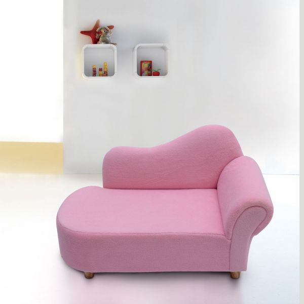 HOMCOM Children's Chaise Lounge Day Bed - Pink
