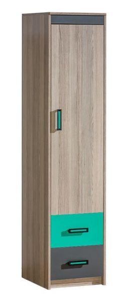 Ursus 1-Door Kid's Ash Wardrobe 42cm - Green, Purple or Orange