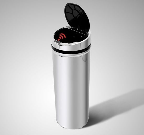 Homcom Luxury Automatic Sensor Dustbin - Chrome or Black - 3 Sizes