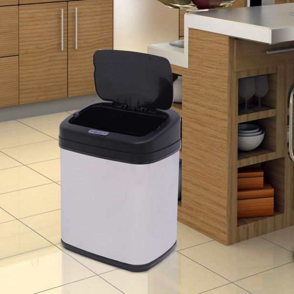 Homcom Automatic Sensor Stainless Steel Dustbin - 2 Sizes
