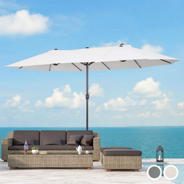 Outsunny Garden Parasol Double-Sided Sun Umbrella - 2 Colours