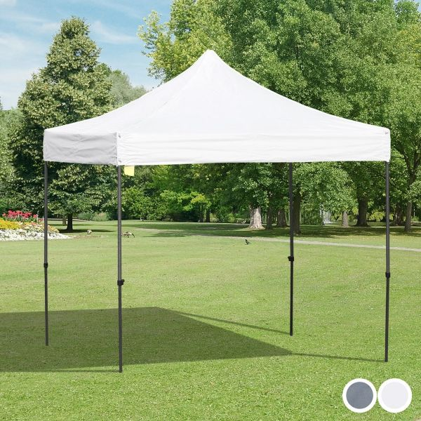 Outsunny 2.9m x 2.9m Steel Frame Raised Roof Pop-Up Gazebo - 2 Colours