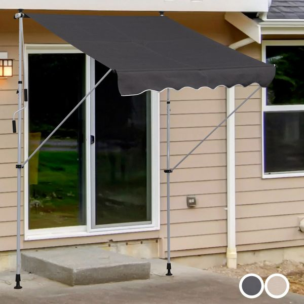 Outsunny 2x1.5m Adjustable Outdoor Aluminium Frame Awning - 2 Colours