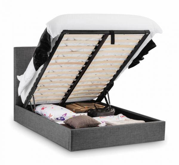 Julian Bowen Sorrento Slate Grey Ottoman Storage Bed