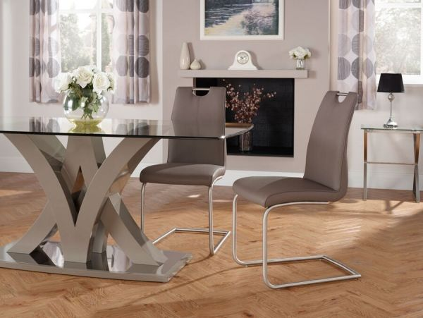 Malaga Faux Leather Dining Chairs x 2 - 5 Colours