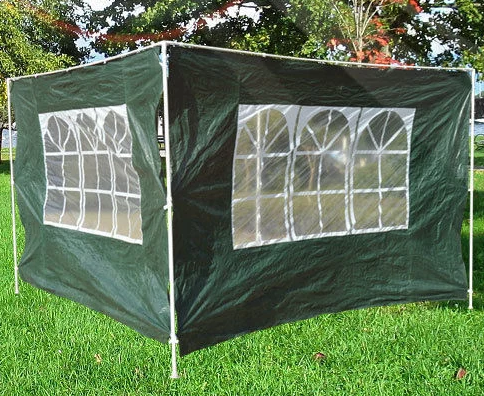 Outsunny 3mx2m Canopy Gazebo Replacement Panel  -  Green and White