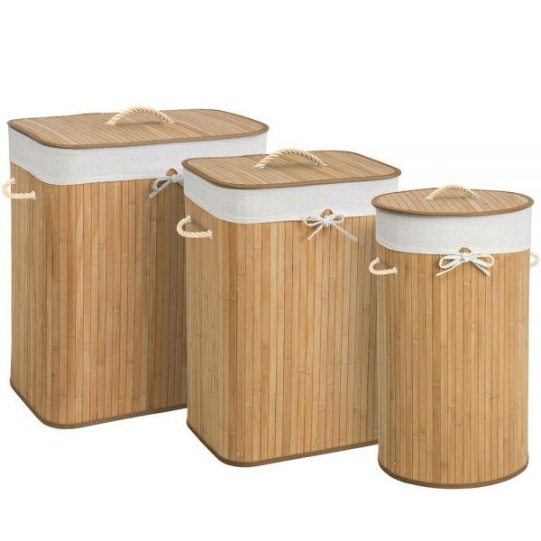 Bamboo Laundry Basket Bag - 3 Sizes