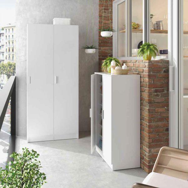 VITA Shoes Storage Cabinet 2 Door - White