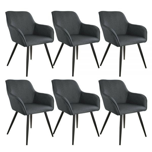 Versatile Upholstered Tub Chair 3 Colours - Set of 6