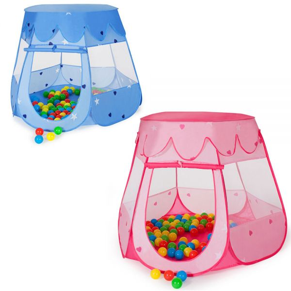 Childrens Pop Up Playhouse With Balls and Bag - 2 Colours