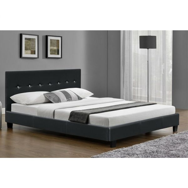 Faux Leather Bed Frame with Mattress Options 6FT Super Kingsize - 2 Colours