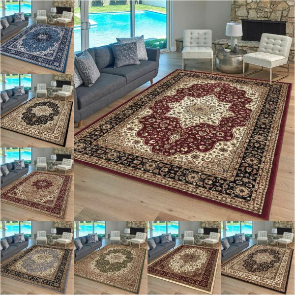 Heavy Duty Oriental Style Large Rug 9 Various Colours