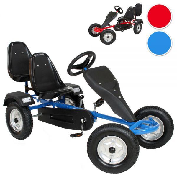 Children 2 Seater Go Kart Pedal Ride - 2 Colours