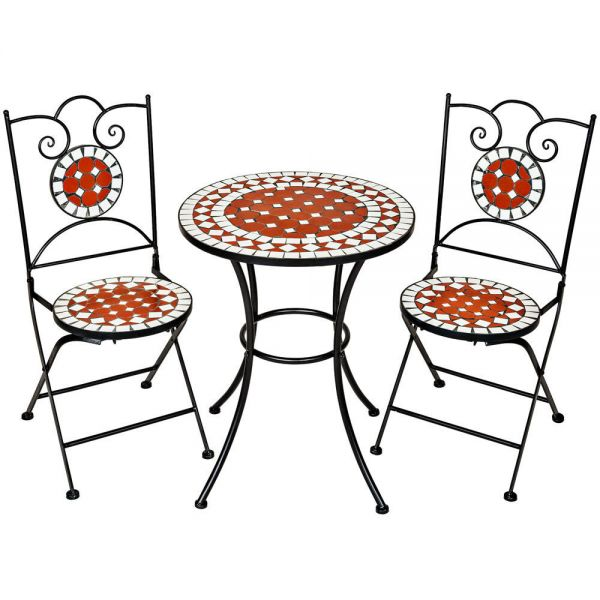 Mosaic Garden Chair Table Set