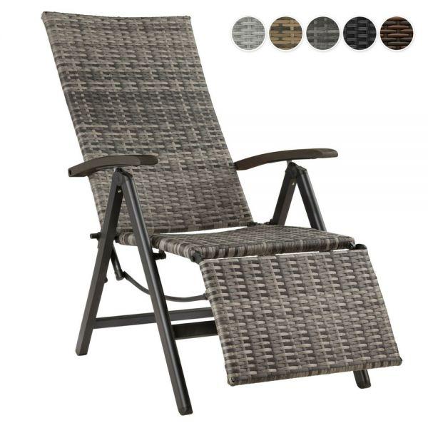 Polyrattan Garden Chair Relaxing Foot Rest - 5 Colours