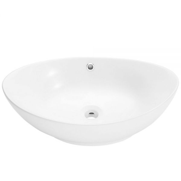 Bathroom Counter Top Ceramic Sink Oval Shape