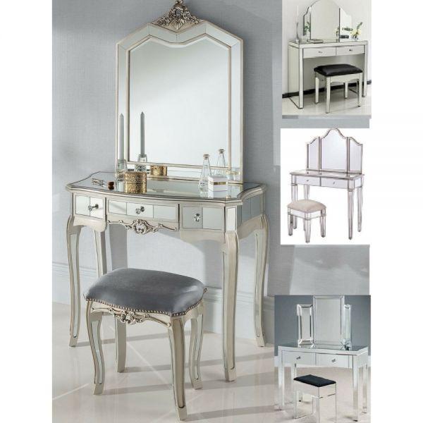 Mirrored Dressing Table Set - Various Design