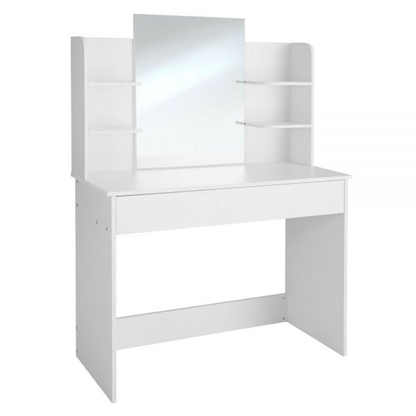 Camille Dressing Table With Mirror - White Colour