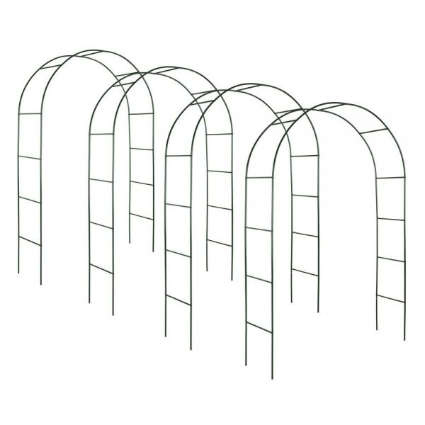 Climbing Plants Arches Set of 4 - Green Colour