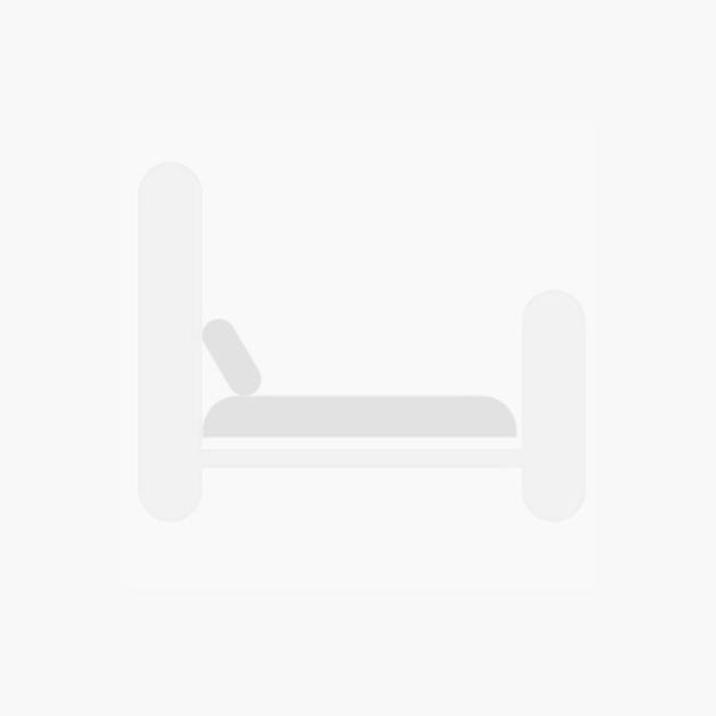 Air Leather Padded Fabric Sofa Bed 3 Seater Brown - Grey