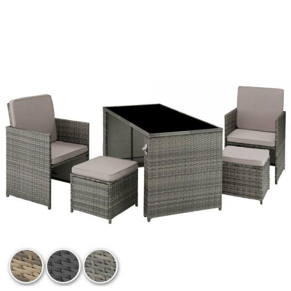 Rattan UV-Resistant Garden Seating Set - 3 Colours