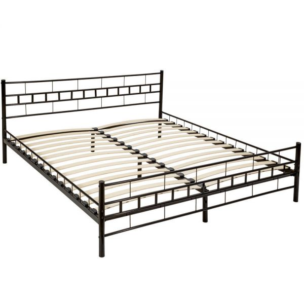 Double Metal Frame Bed Superking Size - Black