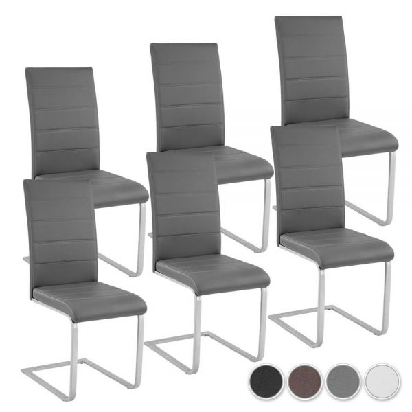 Cantilever Dining Chairs Various Colours - Set of 6