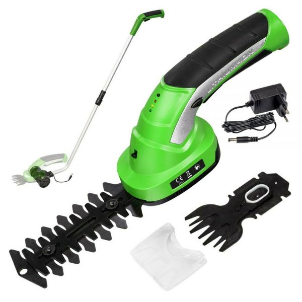 Cordless Hedge Trimmer With 2 Attachments And Telescopic Pole