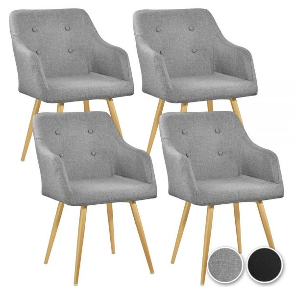 Elegant Polyester Padded Chair Gold Legs - 2 Colours