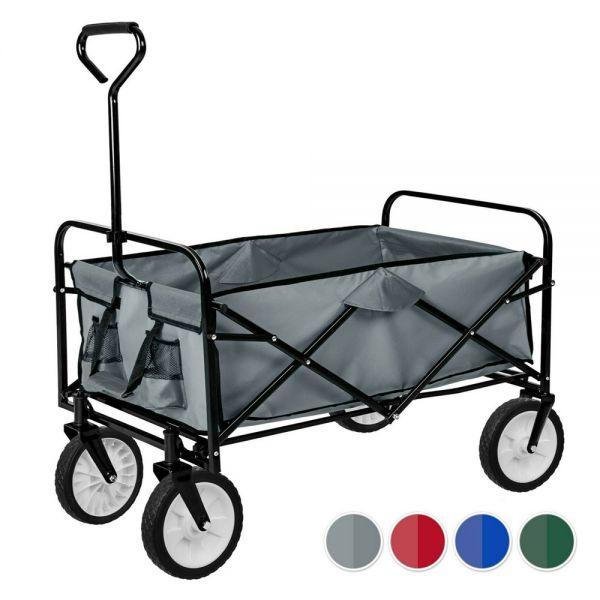 Garden Foldable Pull Along Trolley With Removable Cover - 4 Colours