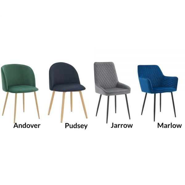 Dining Chair Set of 2 Velvet Chairs Effect Legs Black-Wood