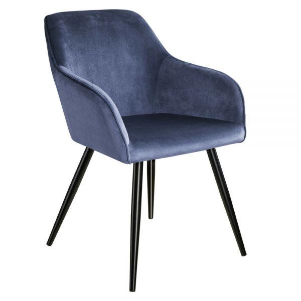 Ergonomic Chair Padded Velvet Look - 9 Colours