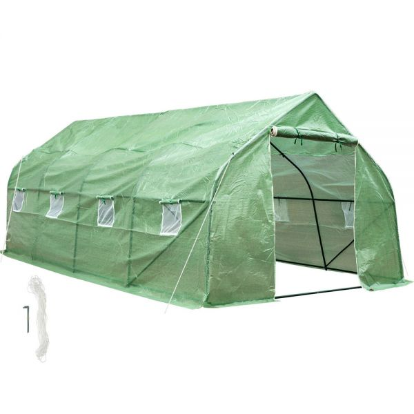 Outsunny Poly Tunnels PE Foil with Metal Frame - 600x300x205