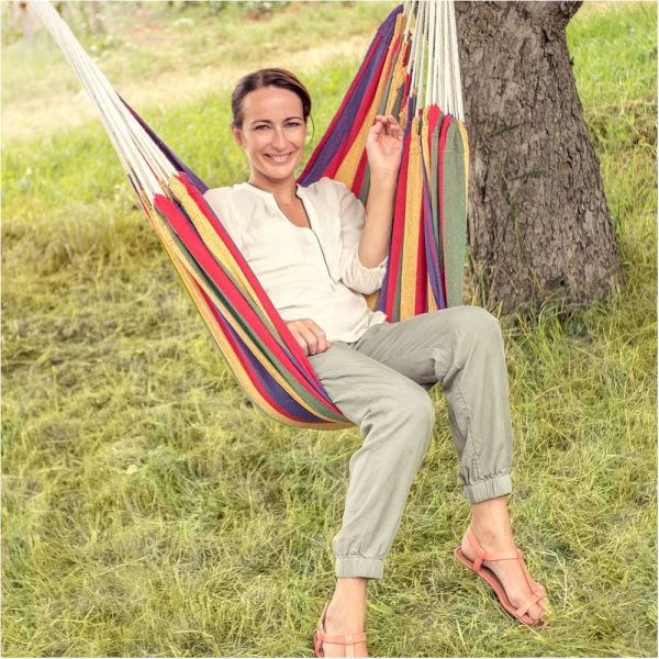 Hammock Swing  Colourful Carry Bag Cotton Seat