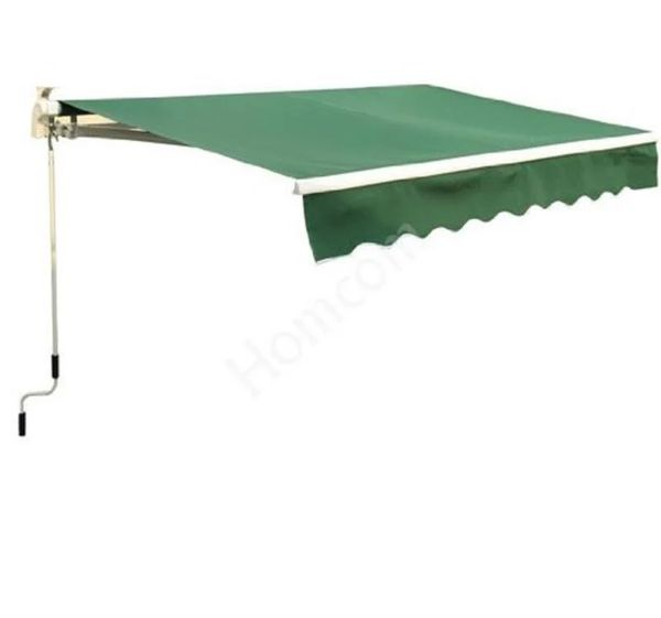 Outsunny Manual Retractable Awning - Green