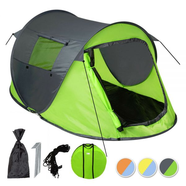 Single-Wall Camping Tent For 2 Persons - 3 Colours