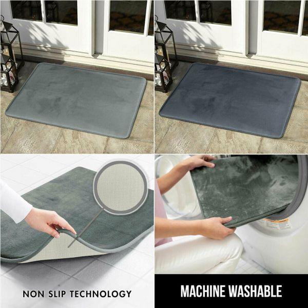 Non Slip Heavy Duty Plain Doormats 8 Colours - 50 x 80 cm