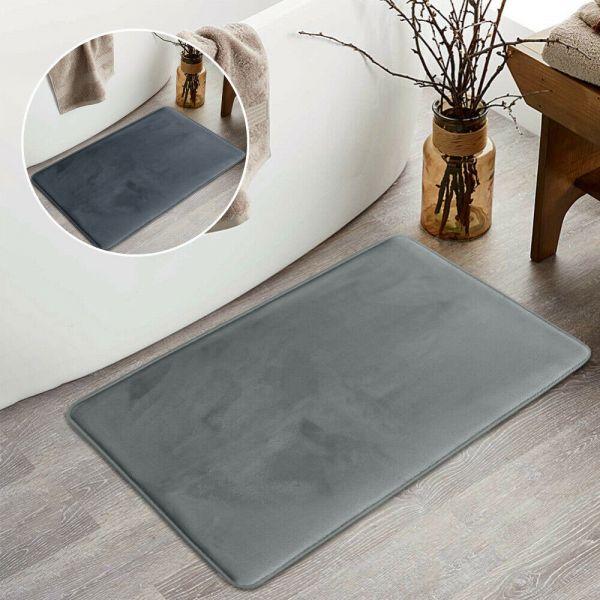 Non-slip Water Absorbent Plain Bath Mat - 2 Colour