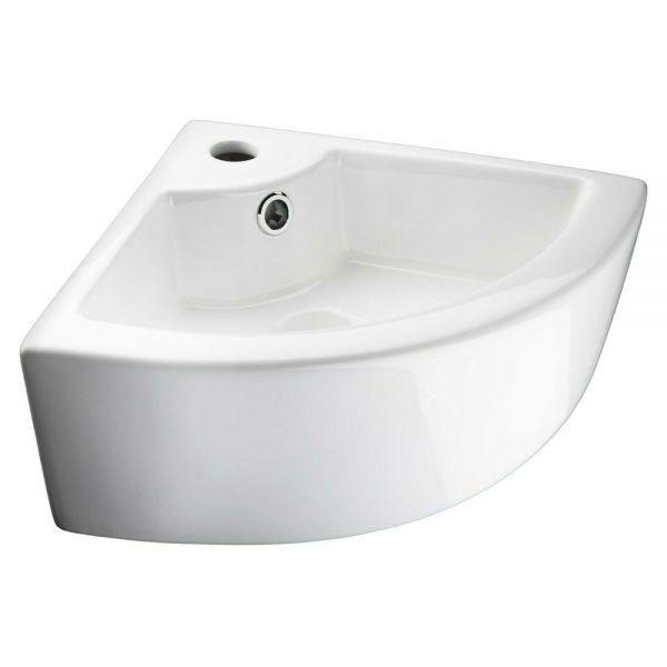 Bathroom Ceramic Corner Sink - White