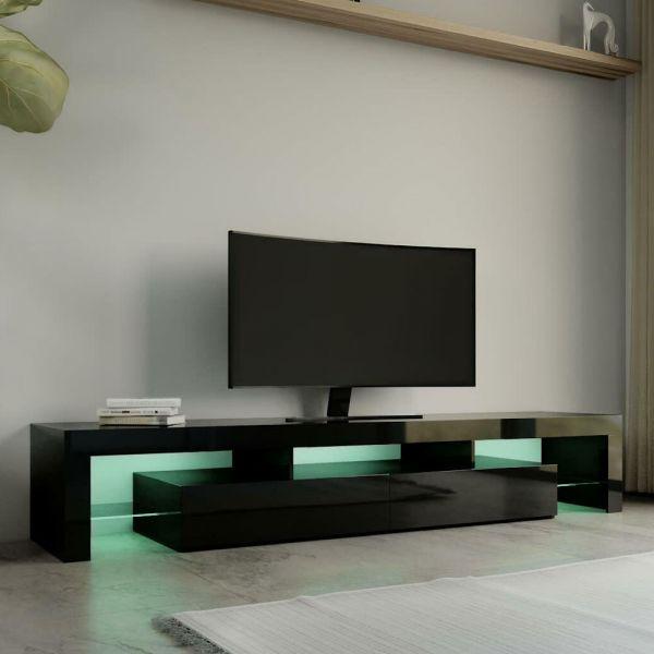 Modern LED High Gloss 2 Drawer TV Stand - 3 Colours